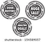 black friday retail sale stamp  | Shutterstock .eps vector #154589057