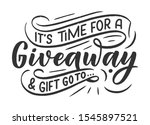 vintage card with giveaway... | Shutterstock .eps vector #1545897521