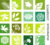 floral icons | Shutterstock .eps vector #154589975