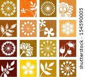 floral icons   Shutterstock .eps vector #154590005