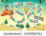 numbers boardgame illustration... | Shutterstock .eps vector #1545900761