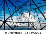 high voltage post.high voltage... | Shutterstock . vector #154593071