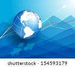vector background with globe... | Shutterstock .eps vector #154593179