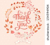 Thank You Card In Pink Colors....