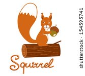 Illustration Of Little Squirre...