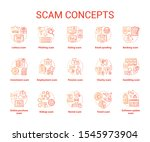 scam concept icons set.... | Shutterstock .eps vector #1545973904