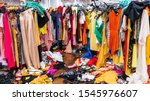 messy clearance section in a... | Shutterstock . vector #1545976607