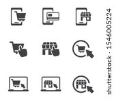 set of e commerce icon with...   Shutterstock .eps vector #1546005224