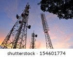 telecommunication tower with a  ... | Shutterstock . vector #154601774