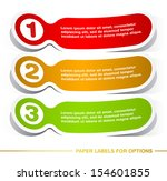 paper labels for options. | Shutterstock .eps vector #154601855
