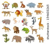 africa animals set isolated on... | Shutterstock .eps vector #154603265
