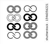 set infinity symbol icons... | Shutterstock .eps vector #1546056221