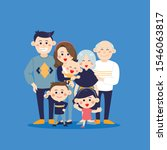 big family together. vector... | Shutterstock .eps vector #1546063817
