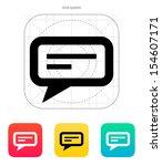 send text message icon on white ...