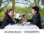 businesspeople having business... | Shutterstock . vector #154608491
