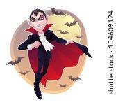 mr. vampire. a count dracula... | Shutterstock .eps vector #154609124