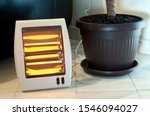 Electric Heater With Halogen...
