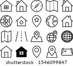 map vector icon set such as ... | Shutterstock .eps vector #1546099847
