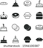 bakery vector icon set such as  ... | Shutterstock .eps vector #1546100387