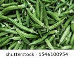 Green Okra Textured.  Fresh...