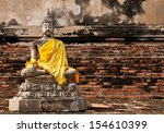 Old Meditation Buddha Statue ...