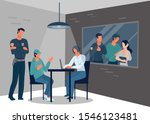 interrogation of guilty man or... | Shutterstock .eps vector #1546123481