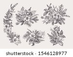 set of christmas bouquets....   Shutterstock .eps vector #1546128977