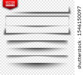 vector shadows set. page... | Shutterstock .eps vector #1546150097