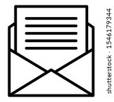 mail celebrity invitation icon. ... | Shutterstock .eps vector #1546179344