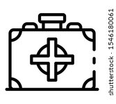 first aid kit icon. outline...
