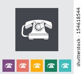 vintage phone flat icon.  | Shutterstock . vector #154618544