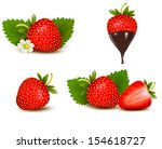 set of ripe sweet strawberry... | Shutterstock .eps vector #154618727