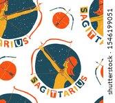 sagittarius seamless pattern.... | Shutterstock .eps vector #1546199051