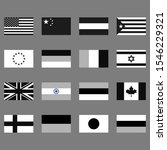 flags set. graphic template....   Shutterstock .eps vector #1546229321