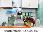 view of old style kitchen | Shutterstock . vector #154623557