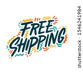 free shipping. concept of on... | Shutterstock .eps vector #1546241984