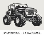 vector illustration with an suv ... | Shutterstock .eps vector #1546248251