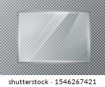 glass plate on transparent... | Shutterstock .eps vector #1546267421