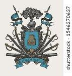 vector heraldic coat of arms in ... | Shutterstock .eps vector #1546270637