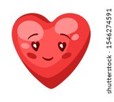 illustration of cute heart....   Shutterstock .eps vector #1546274591