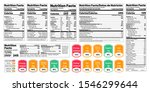 nutrition facts label. vector.... | Shutterstock .eps vector #1546299644