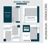 set modern square editable... | Shutterstock .eps vector #1546311581