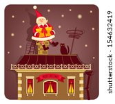 vector illustration with santa... | Shutterstock .eps vector #154632419