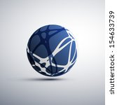 Networks - Globe Design - stock vector