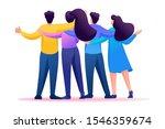 meeting friends  friends are... | Shutterstock .eps vector #1546359674