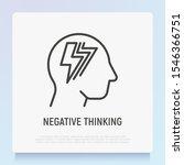 negative thinking thin line... | Shutterstock .eps vector #1546366751
