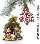 A Small Nativity Scene Under...