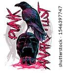 Skull Punk With Raven Art...