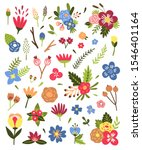 flowers and plants vector... | Shutterstock .eps vector #1546401164