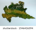 Satellite View Of The Lombardy...
